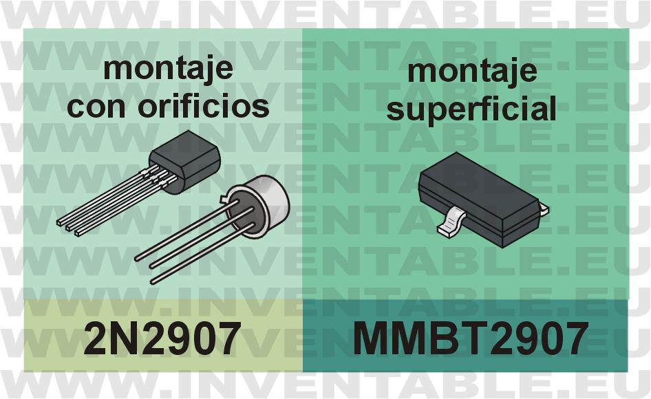 MMBT2907 el 2N2907 para montaje superficial