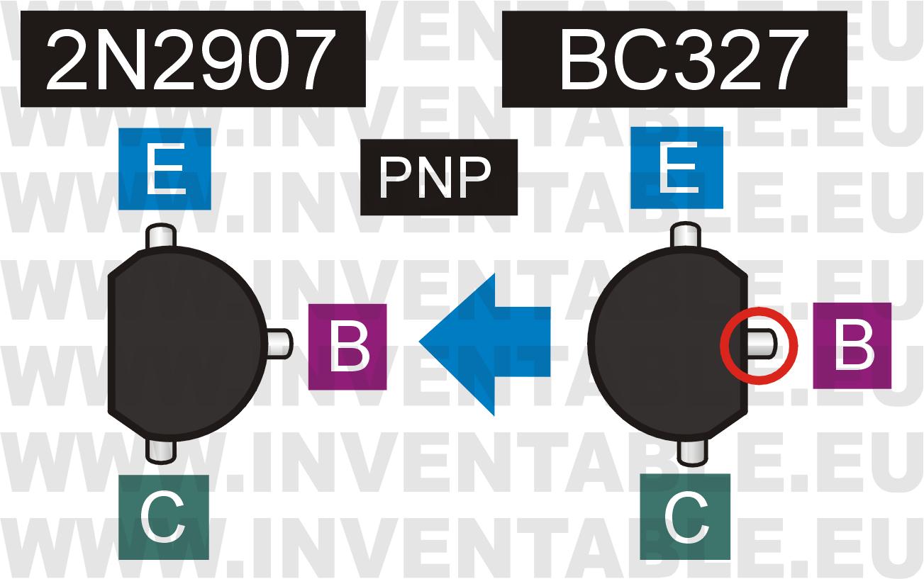 Reemplazo de un 2N2907 por un BC327
